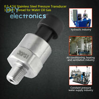 1/8NPT Stainless Steel Pressure Transducer Sender 0-4.5V Oil Fuel Air stw L2KD