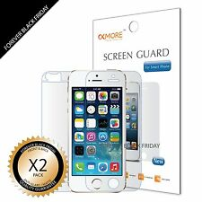 2x Anti-Glare Matte Front Back Screen Protector Guard for iPhone 5S