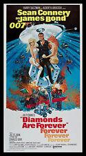 DIAMONDS ARE FOREVER * CineMasterpieces ORIGINAL JAMES BOND MOVIE POSTER 1971