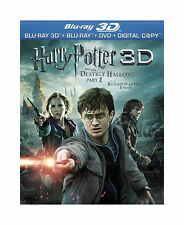 Harry Potter and the Deathly Hallows: Part II (Blu-ray/DVD, 2011, 4-Disc Set)