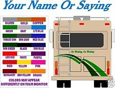 RV / CAMPER NAME or SAYING DECAL - FREE SHIPPING