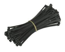 Cable de plástico de nylon fuerte lazos amarra Envolturas organizador 100 X 2.5mm Negro 100 un.