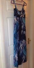 Lipsy Long Blue Strappy Dress Summer Party Beach Holiday 10