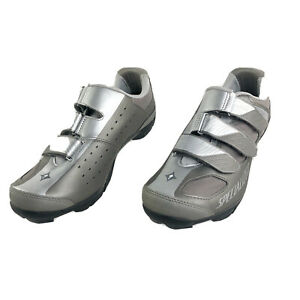 Riata Womens Specialized Mountain Bike Cycling Shoes Silver Gray SZ 10.5