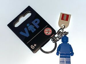 LEGO BLUE VIP EXCLUSIVE MINIFIGURE KEYRING WITH TAG - NEW - FREE POSTAGE