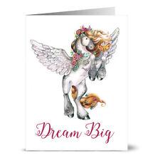 24 Note Cards - Dream Big Pegasus - Kraft Envs