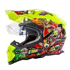 ONeal Sierra Crank Motocross Helmet Yellow Off Road Dual Sport Motorcycle O Neal