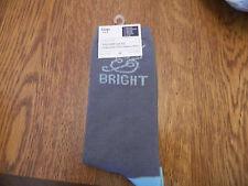"NWT GAP womens trouser socks heather blue w/glitter ""merry&bright"" one size fits"