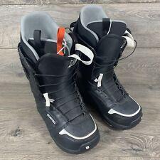 Burton Moto Imprint 1 Snowboard Boots Men's 7 Black White Snowboarding Boots