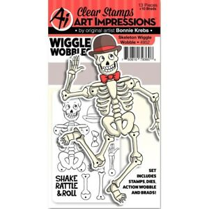 Art Impressions Wiggle Wobbles Set -Skeleton