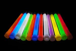DirectGlow 50 Count 8 Color Assorted Jumbo 6 Inch Glow Sticks 12+ Hour Glow