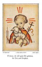 """Fleißbildchen Heiligenbild Gebetbild """" Hummel """" Holy card Ars sacra"""" H628"""""""