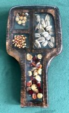 Vintage SPOON REST Acrylic Sunflower Seeds, Corn  ~ Unique!