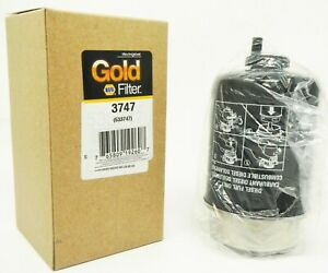 NAPA 3747 Gold Diesel Key Way Style Fuel Filter Cellulose Material John Deere