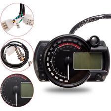 15000rpm MOTO LCD Digital Velocímetro Tacómetro odómetro Válvula LUZ AZUL
