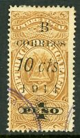 Nicaragua 1911 Fiscal Issues 10¢/1 Preso Yellow Brown VFU C760 ⭐⭐⭐⭐⭐