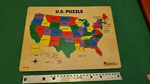 Vintage - Wood Learning Resources United States Map Puzzle -hard to find version