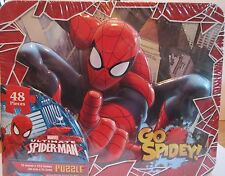 MARVEL ULTIMATE SPIDER-MAN - COLLECTIBLE TIN LUNCH BOX & 48 PIECE PUZZLE