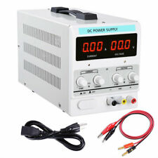 Power Supply 30V 5A 110V Precision Variable DC Digital Adjustable Lab w/clip