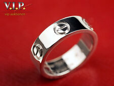 Cartier LOVE ANELLO MEDIUM bague 18k/750 oro bianco white ORO ANELLO Sortija MIS. 50