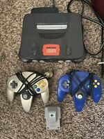 Nintendo 64 With 2 Controllers Expansion Pack Rumble Pack Game