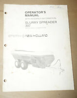 Sperry New Holland Slurry Spreader 307 Operator's Manual P/N 43030712