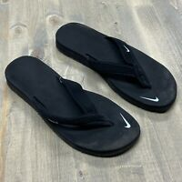 Nike Women's Celso Girl Black/White Thong Sandals 314870-011 Size 8