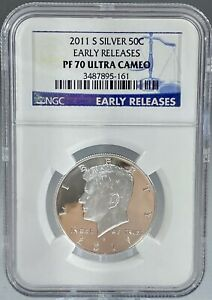 Silver Proof 2011 S Kennedy Half Dollar NGC PF70 ULTRA CAMEO! Rare!