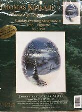 Sunday Evening Sleighride Thomas Kinkade Cross Stitch Sampler