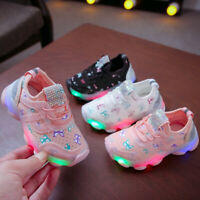 New Kids Boys Girls Running Shoes Flashing Light Up LED Trainers Sneakers-Toddle