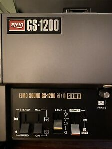 Elmo GS-1200 Super 8mm Stereo Sound Movie Projector Excellent Condition