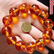 Beads Elastic Amulet Bracelet 17mm Tibet Scented Gold Beeswax