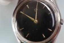 OMEGA Uhr Ref. 2504-5, schwarzes Zifferblatt 1944-1947, kein Gold