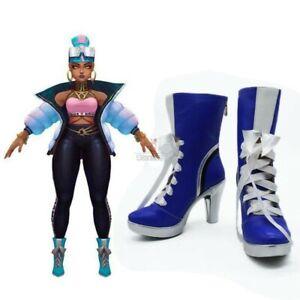 LOL True Damage Qiyana Cosplay Shoes Boots High Heel