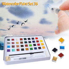 H&B 36 Solid Colors Glitter Watercolor Paint Kit Beginners Painting Art Supplies