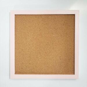 """Memo Board Cork 11 1/2"""" x 11 1/2"""" Pink Frame Repainted"""