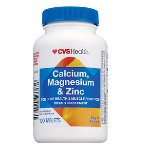 CVS Health Calcium & Magnesium With Zinc  100 Tablets
