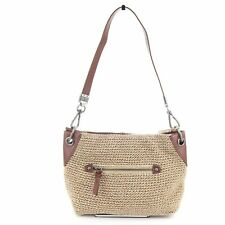 The Sak Indio Crochet Demi Hobo Bag / Shoulder Bag / Purse $89, Bamboo / Brown