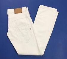 Dondup jeans donna clay usato bianco w29 tg 42 43 straight slim boyfriend T3294
