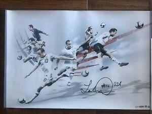 "Landon Donovan Autographed USMNT 24x16 ""American"" #1/100 UDA (Upper Deck) USA"