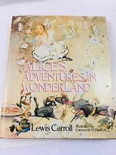 Alice in Wonderland Lewis Caroll Centenary edition Illustrated by Gwynedd Hudson