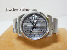 "Rolex SS Datejust Oyster Band, Smooth bezel 16200 ""E"" Gray Tapestry dial"