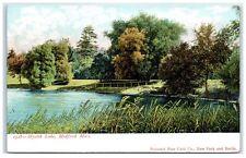 Early 1900s Mystik Lake, Medford, Ma Postcard