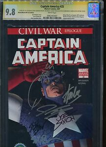 Captain America #25 CGC 9.8 Marvel Comics Wizard World 2007 Con Edition Sign+ 6