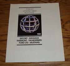 Original 1981 Ford Full Line Sales Brochure 81 8/80 Mustang Thunderbird