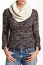 UGG Australia Nyla Knit Snood Scarf Wool Blend Cream