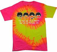 THE BEATLES TIE DYE T-SHIRT ADULT S-5XL, KIDS XS2-4-L14-16 ASSORTED COLORS GREAT