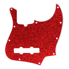 D'Andrea 4-Ply 10-Hole Jazz Bass Pickguard Red Sparkle