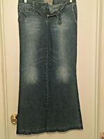 "AMERICAN RAG CIE Womens Size 9 Low to Mid Rise Flare Denim Blue Jeans 31"" Inseam"