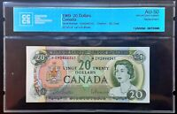1969 BANK OF CANADA $20 Replacement Note *EM2844541 CCCS AU-50 Certified BC-50aA